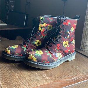 Floral Dr Martens Boots